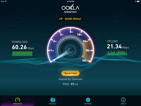Unifi AP LR Internet Speed Test 1