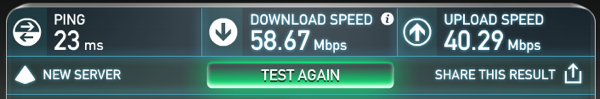 UAP LR Internet Speed Test